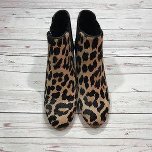 d160ccaf5891 kate spade Shoes - Kate Spade Leah Leopard Calf Hair Cow Booties Sz 6